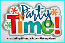 PARTY TIME birthday  boy title scrapbook  premade paper piecing by Rhonda