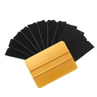 10x Gold Squeegee Applicator Tool Replaceable Felt Edge Tips Vinyl Wrap Kit New