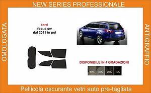 pellicola oscurante vetri ford focus sw dal 2011-2019 kit posteriore