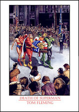 DEATH OF SUPERMAN PRINT- Signed Tom FLEMing