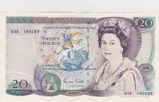 B355 63R Gill veinte libras Banco de Inglaterra Nota en cerca de nuevo, sin usar