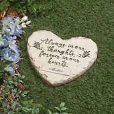 "PERSONALIZED ""Forever in our hearts"" Garden Yard Memorial Stepping Stone"