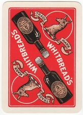 Playing Cards 1 Swap Card - Old Wide WHITBREAD'S Brewery INDIA PALE ALE Beer