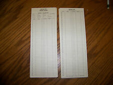 Chessie System Railroad Switch List Cards, Pack of 50!  Genuine!