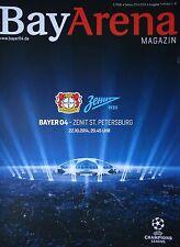 Programm UEFA CL 2014/15 Bayer Leverkusen - Zenit St. Petersburg
