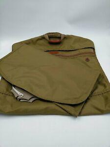Hartmann Garment Bag Brown Nylon Leather Trim Insert Travel Luggage Lot of 2