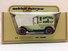 Matchbox Models of Yesteryear Y5 1927 Talbot Chivers & Sons