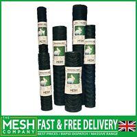 Chicken Rabbit Wire Mesh (13mm, 25mm & 50mm) Galv & PVC Steel Garden Fencing