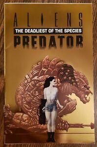 ALIENS / PREDATOR: THE DEADLIEST OF THE SPECIES ~ GOLD ASHCAN VARIANT ~ VF 1993