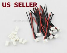 US SHIP 10 PCS 3S1P Balance Charger Cable 22 AWG Silicon Wire JST XH Plug