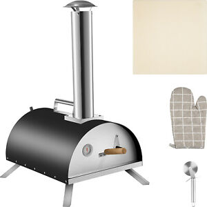 VEVOR Outdoors Portable Pizza Oven Pellet Grill Wood BBQ Smoker Food Grade SS