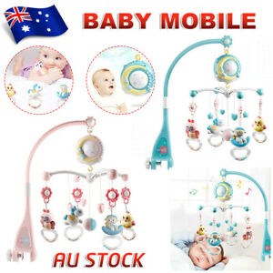 Baby Mobile Crib Cot Bed Toy Holder Arm Bracket Wind-up Music Box Nursery Rattle