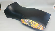 Polaris Sportsman 500 HO Seat Cover 1996-04  2-TONE BLACK & ORANGE CAMO (rear)