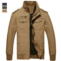 Men's Lightweight MA-1 Flight Jacket Military Air Force Army Combat Bomber Coats