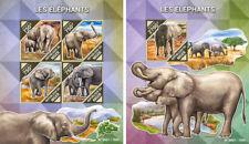 Elephants Elefanten Animals Fauna Niger MNH stamp set