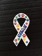 Paw Print Animal Rescue Awareness Ribbon Pin Brooch