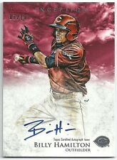 2013 Bowman Inception BILLY HAMILTON Prospect RC On-Card Auto RED #07/10