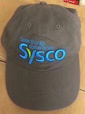 Baseball Cap Hat Sysco Food Service, Charcoal Color, Hook/Loop Back,  Halo, NEW