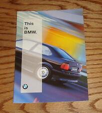 Original 1996 BMW Full Line Sales Brochure 96 M3 Sports Coupe