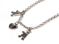 Bijou argent 925 collier breloques fermoir bouée necklace