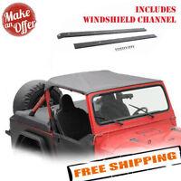 Smittybilt 90815 Bikini Top w/ Windshield Header - 1987-1991 Jeep Wrangler YJ