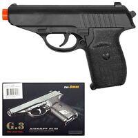 """New 6.5"""" Spring Black Metal Airsoft Pistol Gun 230fps w/ 6mm BB Air Soft G3 Air"""