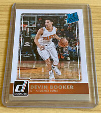 Devin Booker 2015-16 Panini Donruss Rookie Card Rated Rookie Phoenix Suns