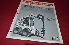 Bobcat Skid Loader M-578 Earth Auger Attachment Dealers Brochure DCPA2