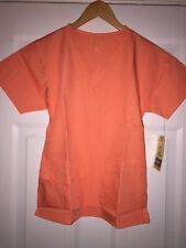 NWT WonderWink scrub top orange, orange sherbet, peach size extra small 6016A