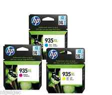 Set di 3 HP 935XL CIANO MAGENTA GIALLO ORIGINALE Officejet 6830 E-Pro all-in-One