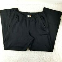 Lucy womens black pull on pants SIZE S SHORT pockets loose fit (C)