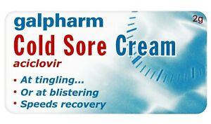 GALPHARM COLD SORE CREAM 2g 5% TINGLE LIP HERPES VIRUS BLISTER - !PROMO!