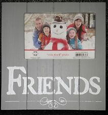 friends gray wooden distressed photo frame holds 4 x 6 photo new by prinz