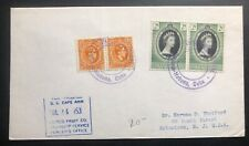 1953 Jamaica United Fruit Steamship Service SS Cape Ann Cover To Eatontown USA