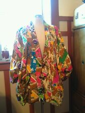 Patchwork Balinese Jacket Vintage 80's 90's Chic Hippy