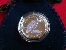 2019 Indian Ocean Leatherback Turtle 50p Coin Coloured BUNC Sealed NEW