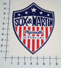 Sox & Martin Pegatina Sticker Plymouth Drag Race tuning v8 muscle car OEM mi022
