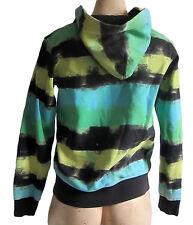 Girls H&M TIE-DYE STRIPES PRINT Cotton Zip Hoody With 2 Pockets Age 12-14 zipped
