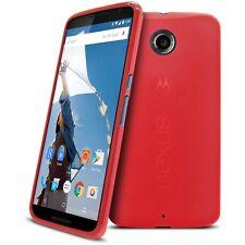 Funda Para Motorola Nexus 6 Semi Rígido Gel Extra Fina Mate/Brillante Rojo