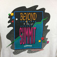 Vintage 90's Compaq Computers PC Game T Shirt Hewlett Packard HP Memphis Design