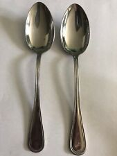 "OXFORD CALDERONI 2 Serving Spoons  9"" - 18/10 Italy Stainless Flatware"