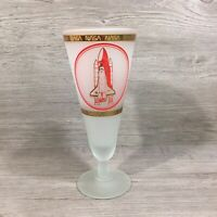 Vintage NASA Spaceport Space Shuttle Drinking Glass -RARE