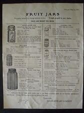1917 Fruit Jars Price List - Kerr Advertisement - Dallas Texas - TX Ad