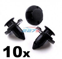 10x 8mm Plastic Trim Clips for Nissan Wheel Arch Liners / Engine Bay Shields -