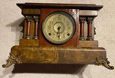 Seth Thomas Adamantine Mantle Clock Parts Only Lion Head Wood