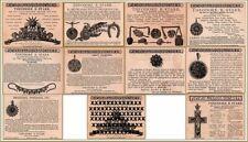10  1880's Starr Biddle Jewelry Print Ads Cameo Diamonds pins Pearls Cross Ruby