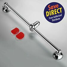 HotelSpa® Insta-Mount Stainless Steel Height / Angle Adjustable Shower Slide Bar
