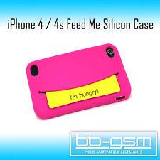 FEED ME Case für iPhone 4 und 4s Silicon Hülle Tasche Cover in Rosa