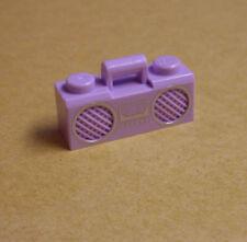 Lego Kofferradio Radio Ghettoblaster rosa pink lila Kassettenradio Figuren Neu
