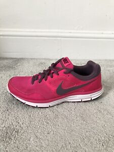 Womens Nike Lunarfly 4 Pink Trainers Lace Up Size 7